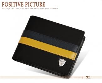 Pánská polokožená peněženka PENP001590K10